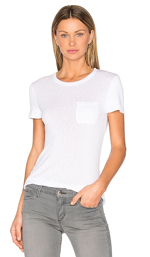 three dots Cap Sleeve Boy tee in White