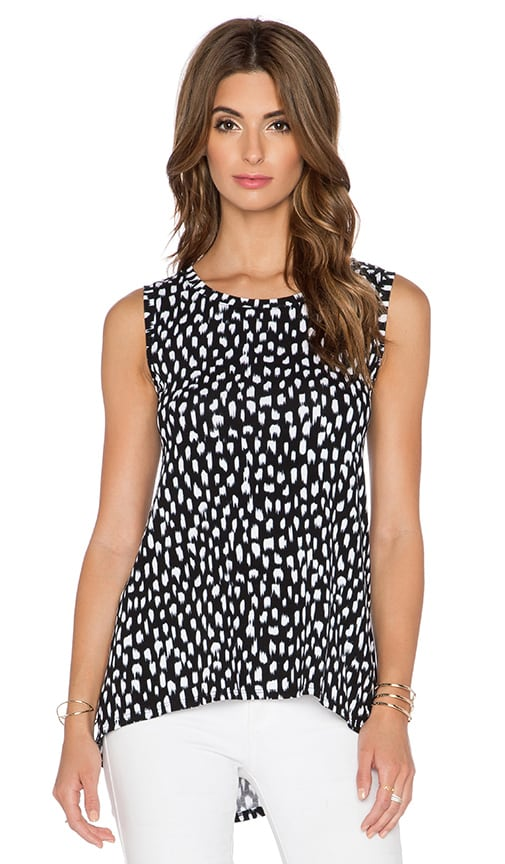 three dots High Low Muscle Tank in Black