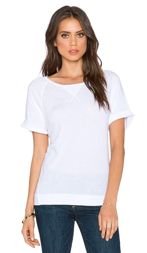 three dots Sweatshirt Tee in White