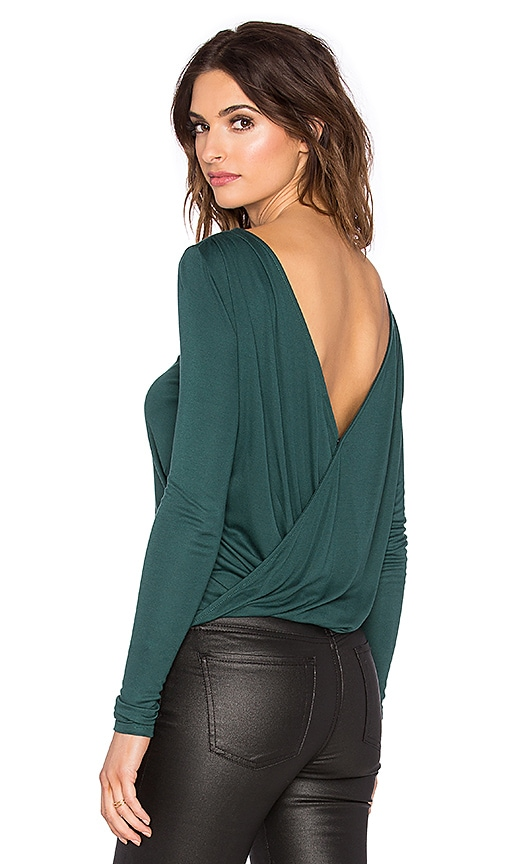 three dots Shelby Reversible Top in Eve Green