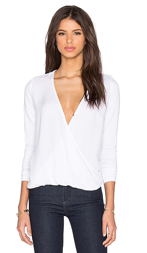 three dots Georgia Twist Front Top in White