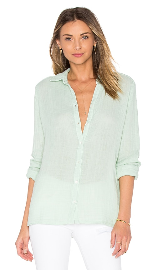 three dots Lynn Long Sleeve Shirt in Sea Mist