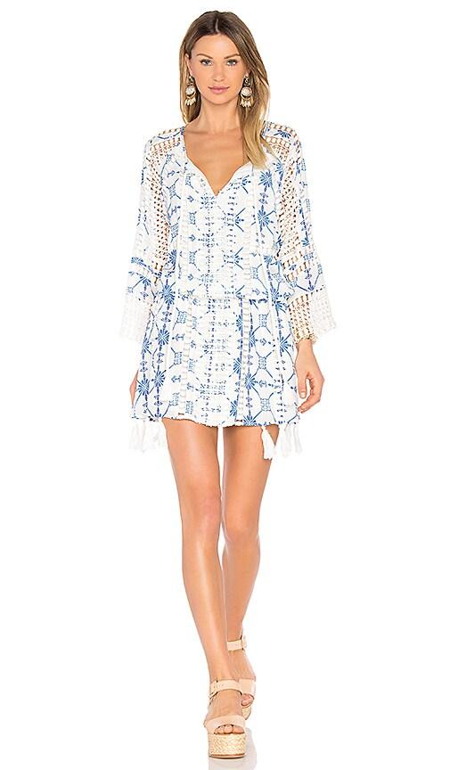 THURLEY Silk Tassel Dress in White