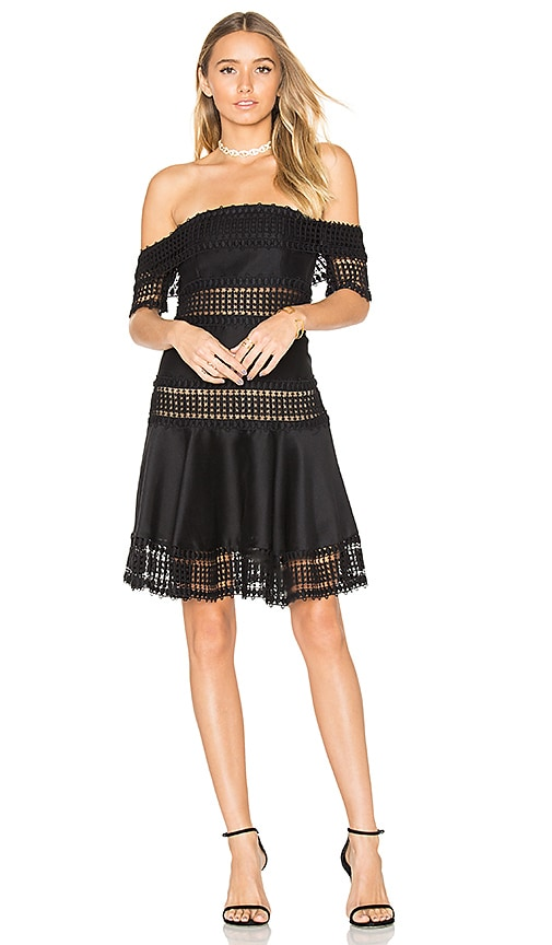 THURLEY Salvadore Off Shoulder Dress in Black
