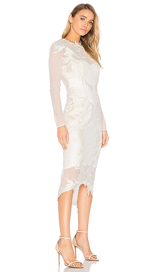 THURLEY Chariot Midi Dress in White