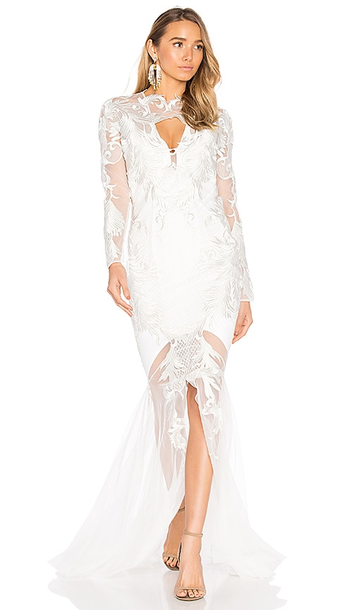 THURLEY Chariot Gown in White