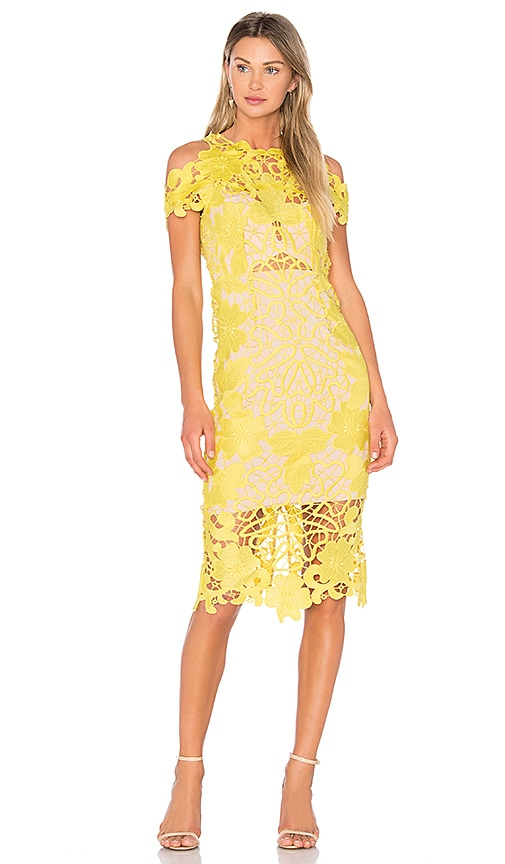 THURLEY Hollyhock Midi Dress in Yellow