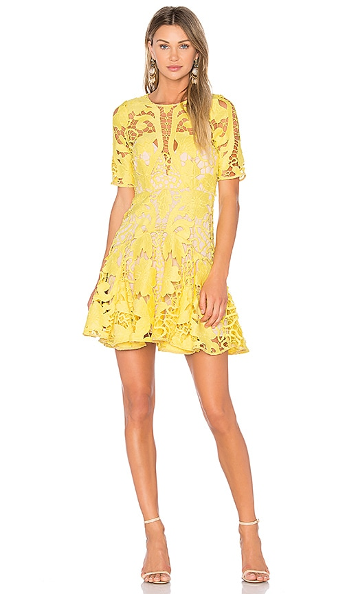 THURLEY Hollyhock Mini Dress in Yellow