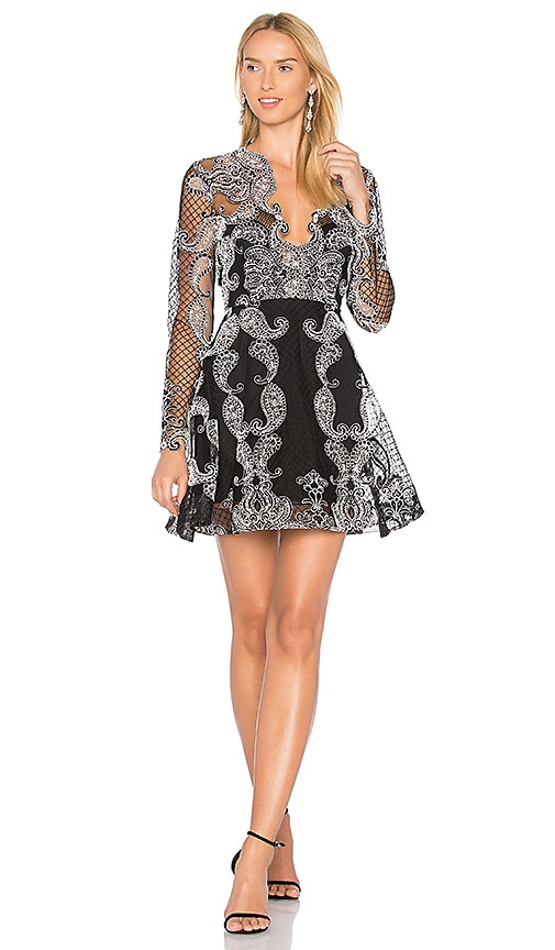 THURLEY Paisley Princess Dress in Black