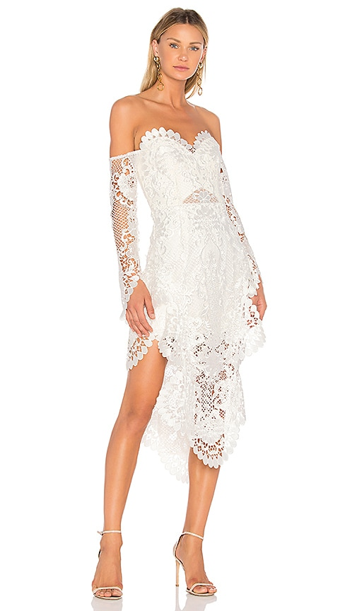 THURLEY Pearly Gates Midi Dress in Ivory