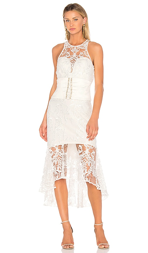 THURLEY Chateau Midi Dress in Ivory