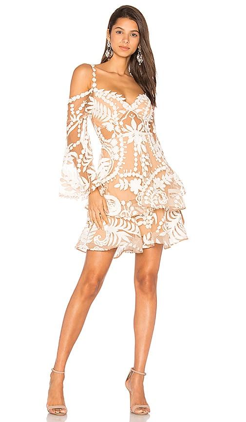 THURLEY Poppy Fields Dress in White