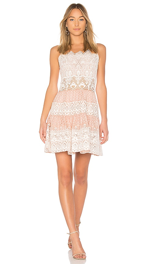 THURLEY EBONY EMBROIDERED DRESS