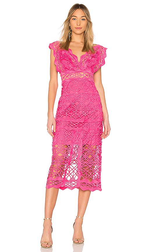 THURLEY Coney Island Midi Dress in Pink