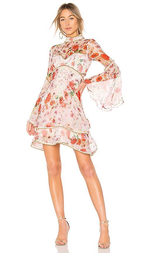 THURLEY Meadow Print Dress in Pink