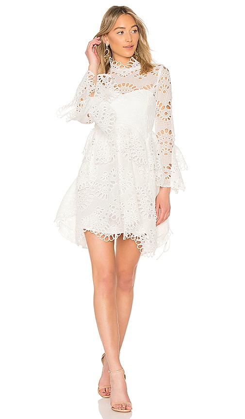 THURLEY Leo Embroidered Dress in White