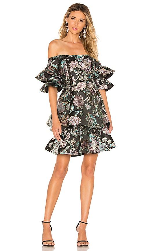 Oriental Jacquard Mini Dress