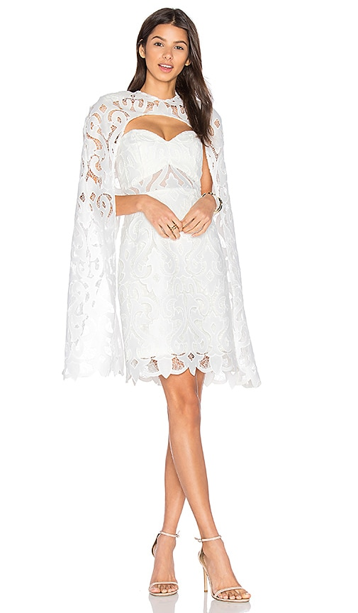 THURLEY Khalessi Cape Dress in White