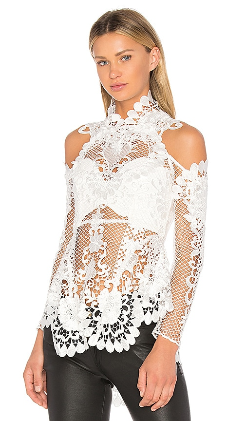 THURLEY Pearly Gates Blouse in Ivory