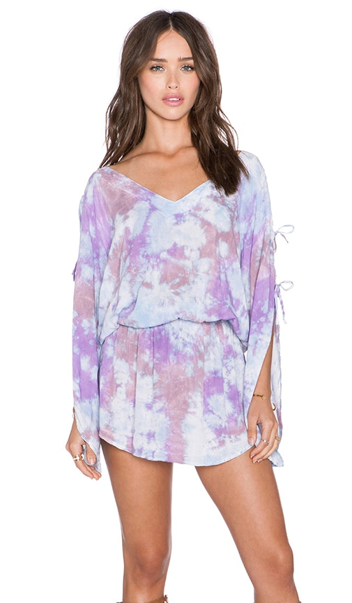Tiare Hawaii Aphrodite Dress in Blue, Purple & Cream Island