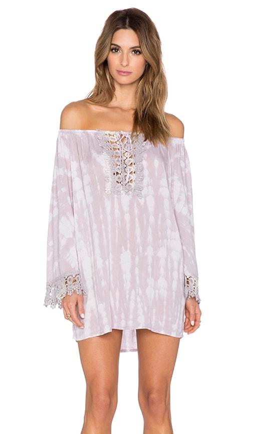 Tiare Hawaii Flow Mini Dress in Cream & Skin Sabia
