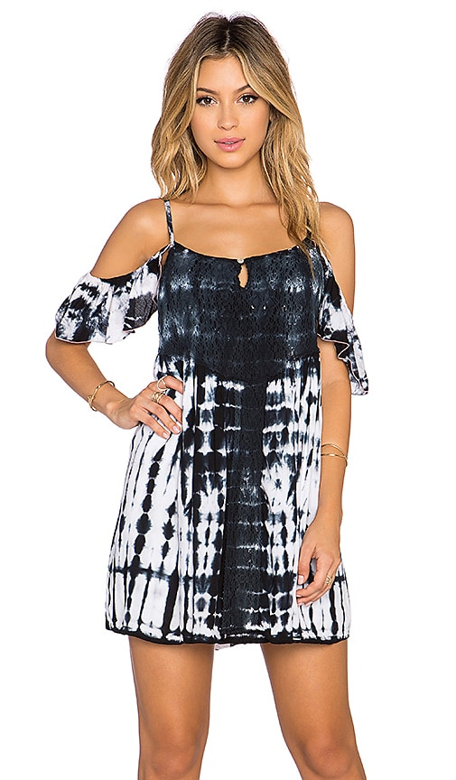 Tiare Hawaii Somerset Mini Dress in Black Tie Dye