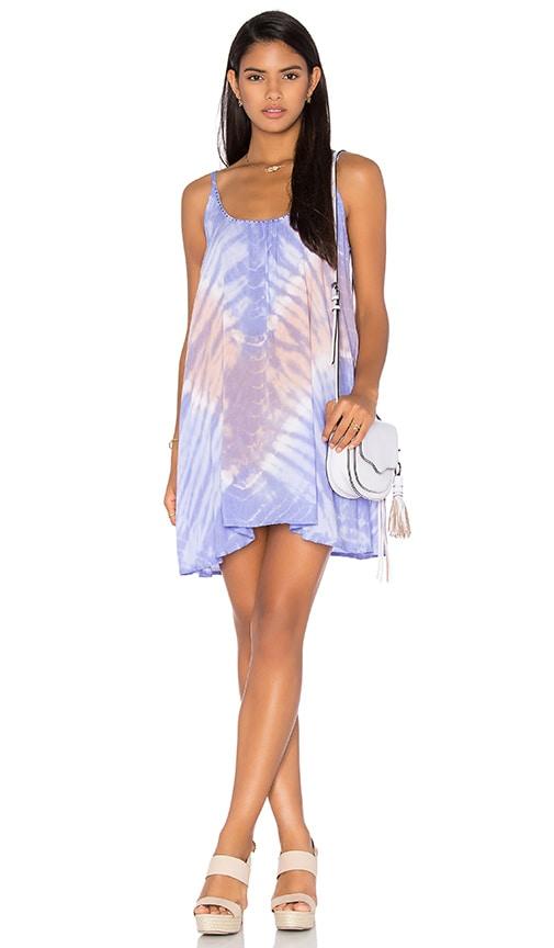 Tiare Hawaii Stud Dress in Vibe Peach & Lavender