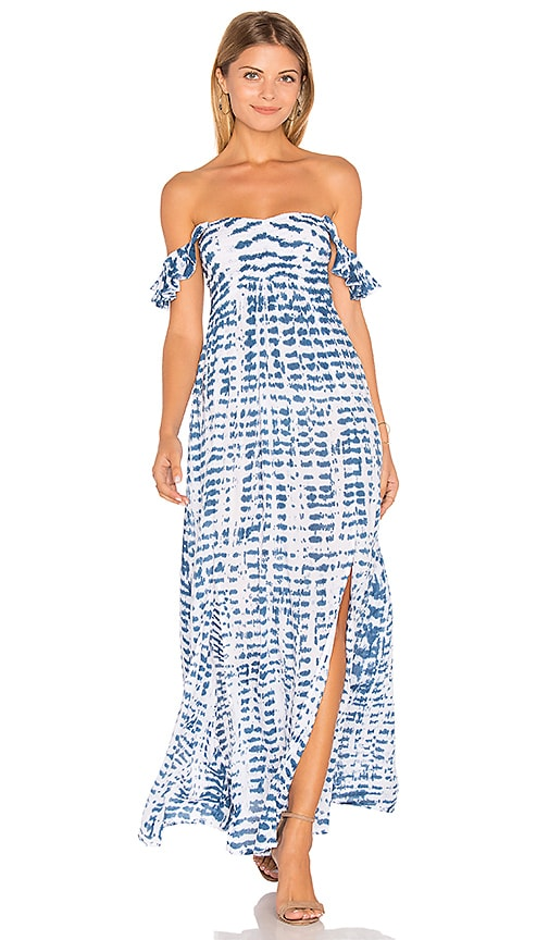Tiare Hawaii Hollie Off Shoulder Dress in Navy
