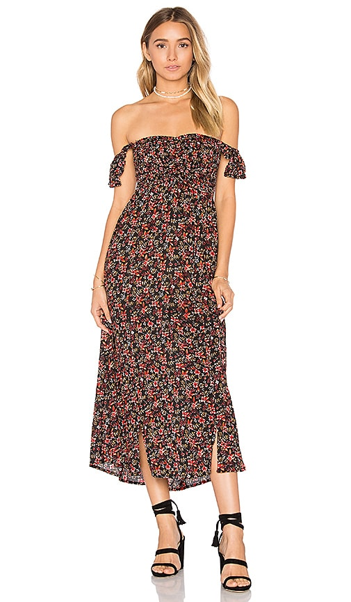 Tiare Hawaii Hollie Midi Dress in Black