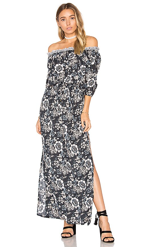Tiare Hawaii Sage Maxi Dress in Navy