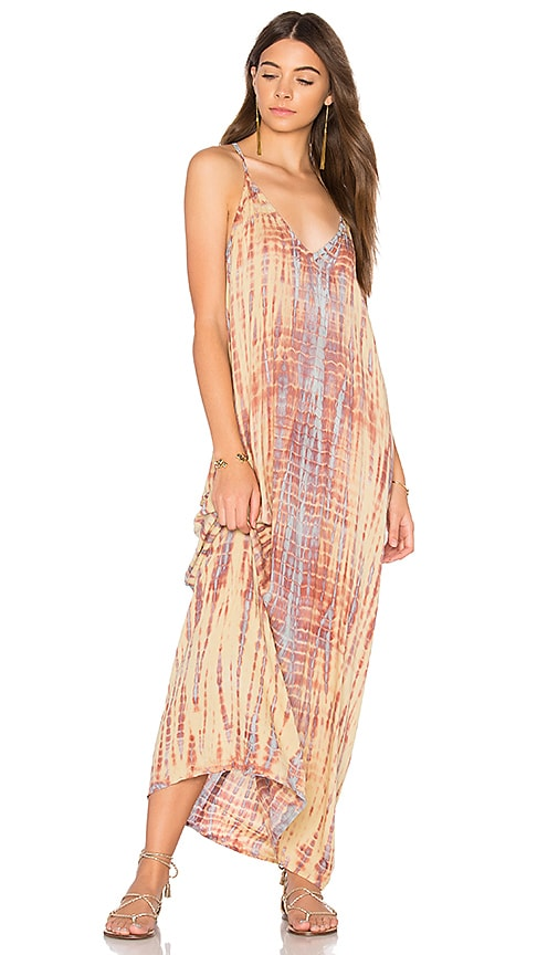 Tiare Hawaii Kalapana Maxi Dress in Cream