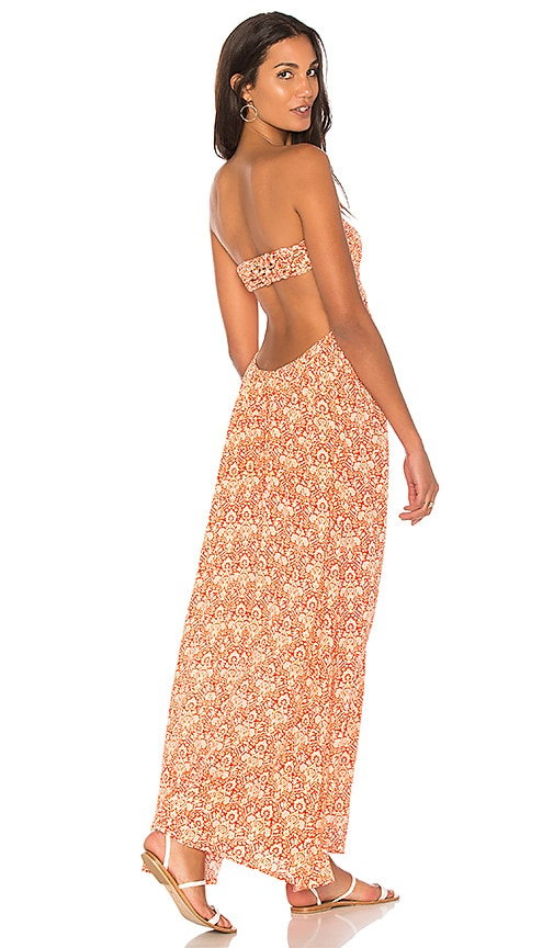 Tiare Hawaii Kalani Maxi Dress in Red
