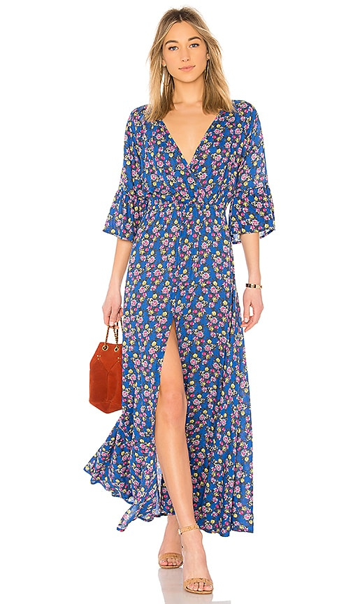 Tiare Hawaii Surry Maxi Dress in Blue
