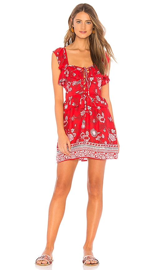 Tiare Hawaii Stone Roses Dress in Gerber Daisy Red | REVOLVE