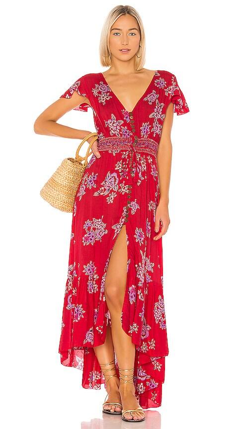 566ce066fb Tiare Hawaii New Moon Maxi in Vintage Hawaii Red | REVOLVE