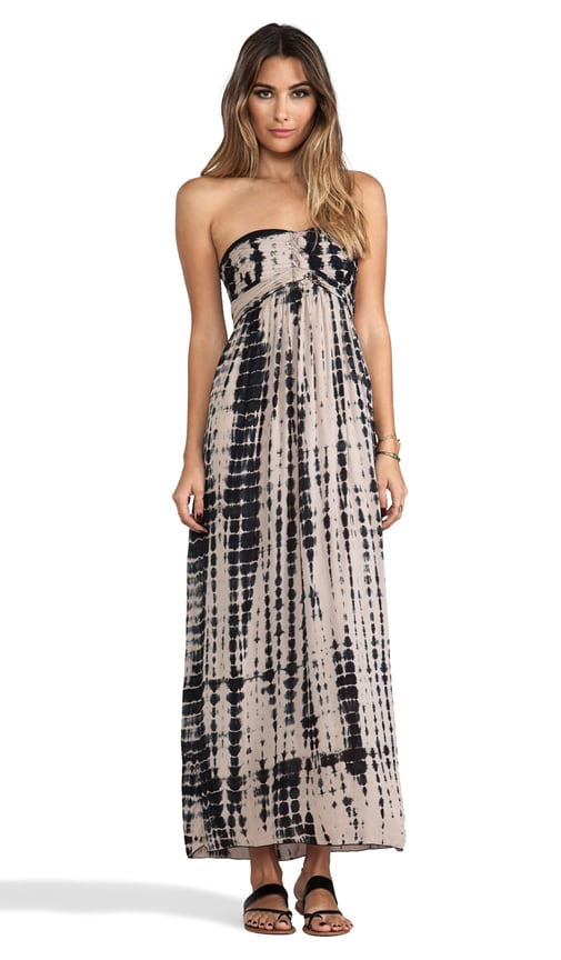 Jasmine Printed Strapless Maxi Dress