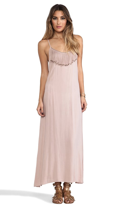 Las Cruces Fringed Neckline Maxi Dress