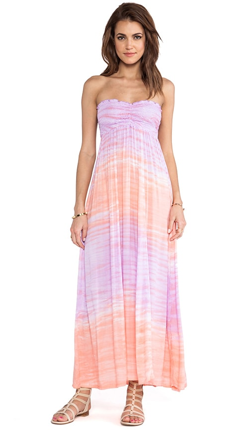 Seaside Strapless Maxi Dress