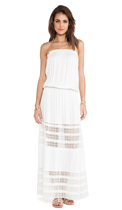 Sienna Strapless Lace Panel Maxi Dress