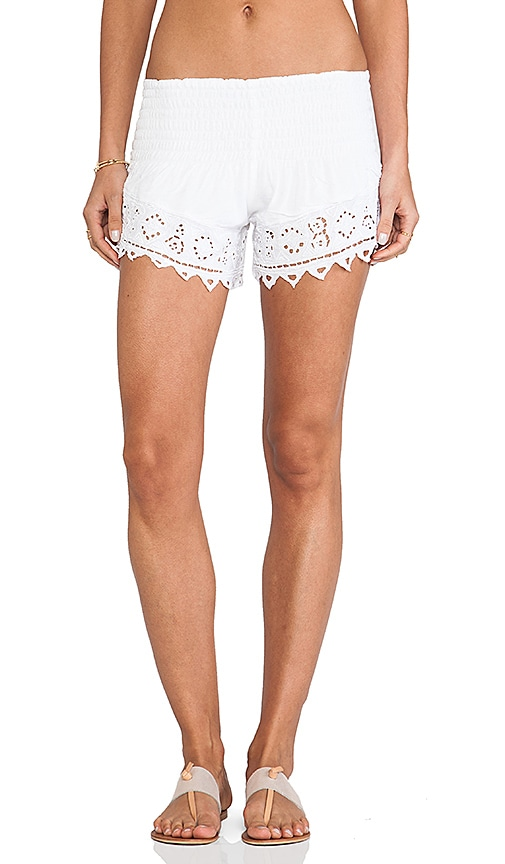 Tiare Hawaii Eyelet 2 Shorts in White