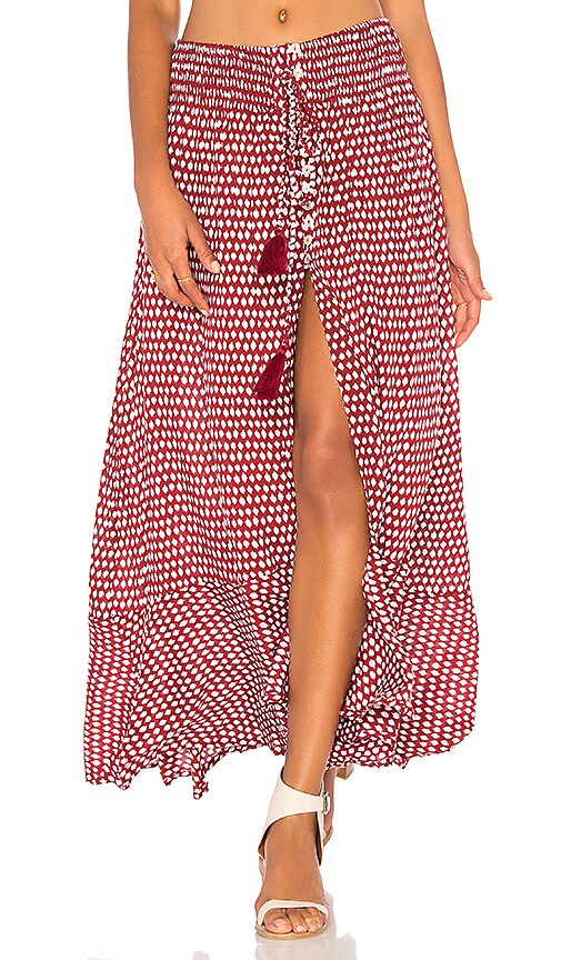Tiare Hawaii Dakota Skirt in Red