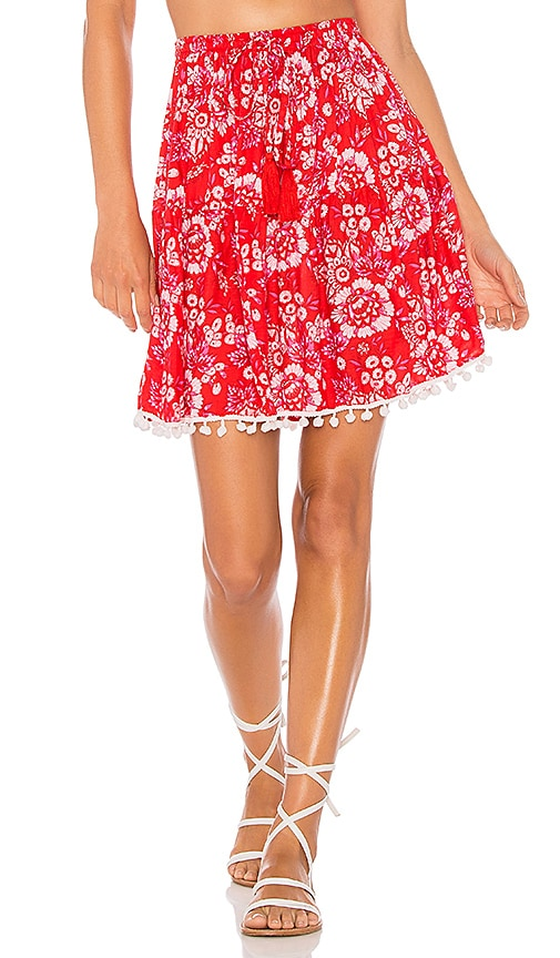 Tiare Hawaii Lover Skirt in Red