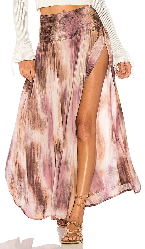 Tiare Hawaii Rock Your Gypsy Soul Maxi Skirt in Taupe