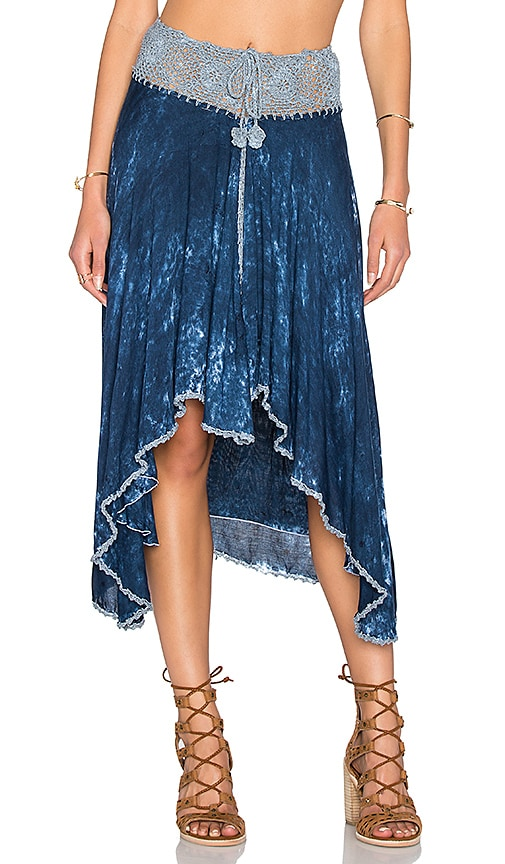 Tiare Hawaii Crochet Skirt in Blue