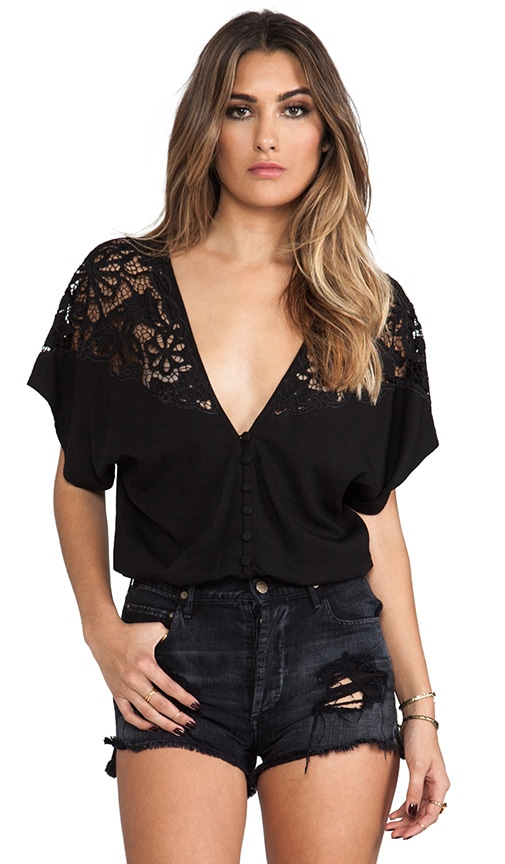 Plumena Lace Panel Blouse