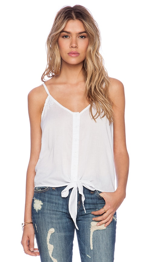 Alyson Lace Panel Tank Top
