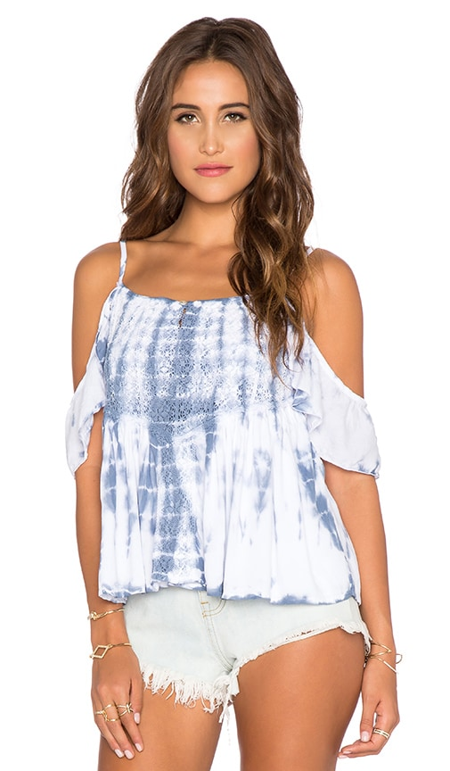 Tiare Hawaii Somerset Top in Blue Tie Dye