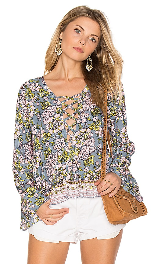 Tiare Hawaii Sunday Lovin Blouse in Green
