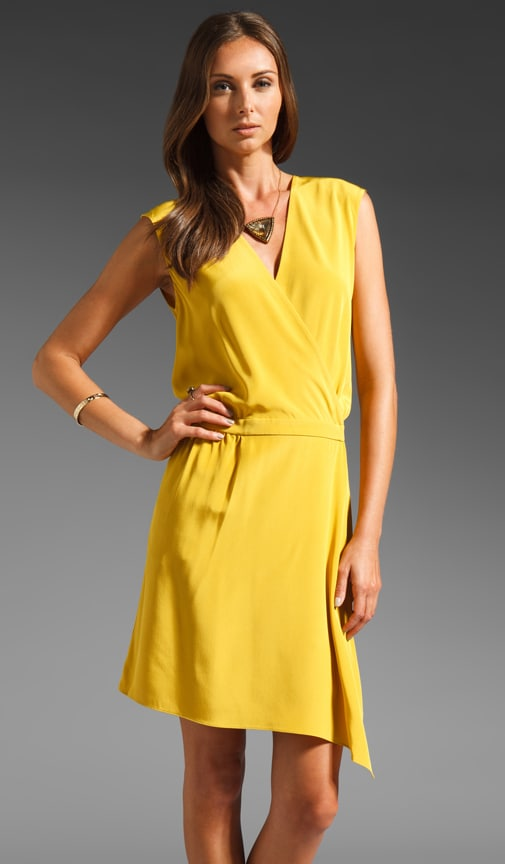 Solid Silk Wrap Dress