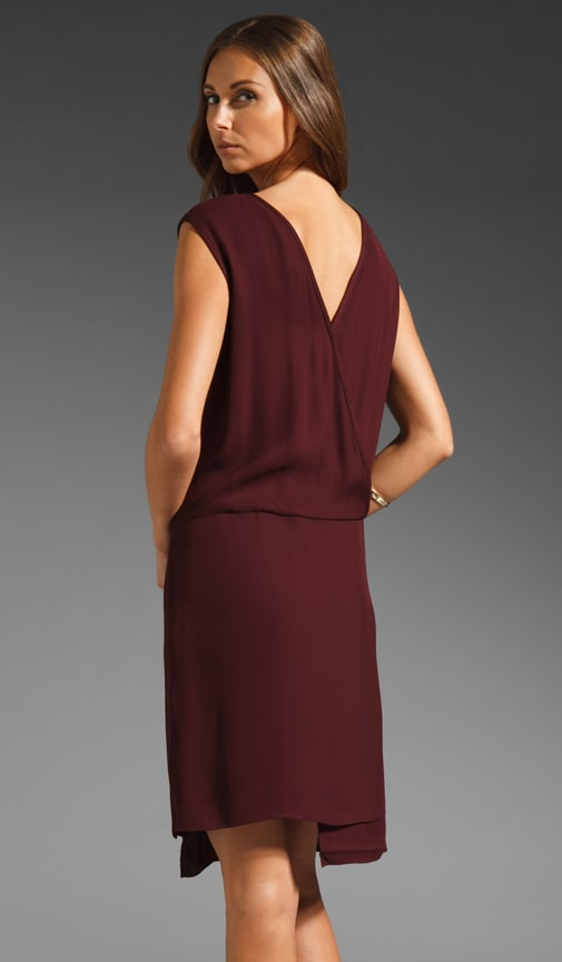 Drapy Crepe Wrap Dress